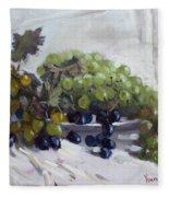 Greek Grapes Fleece Blanket