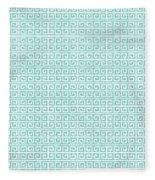 Greek Key Watercolor Pattern Beach Ocean Home Decor Fleece Blanket