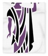 Greek Man In Purple Fleece Blanket