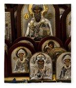 Greek Orthodox Church Icons Fleece Blanket