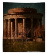 Greek Temple Monument War Memorial Fleece Blanket
