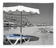 Greek Umbrella Fleece Blanket