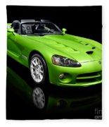 Green 2008 Dodge Viper Srt10 Roadster Fleece Blanket