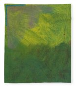 Green Abstract 1 Fleece Blanket