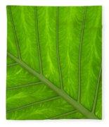 Green Abstract No. 4 Fleece Blanket
