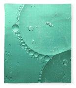 Green Abstract Of Oil Droplet.  Fleece Blanket