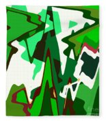 Green Abstract Squared #2 Fleece Blanket