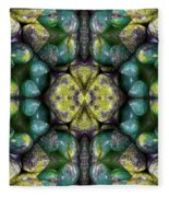 Green And Blue Stones 3 Fleece Blanket
