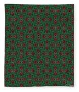 Green And Brown Chunky Cross Mirror Pattern Fleece Blanket