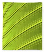 Green And Yellow Building Abstract Fleece Blanket