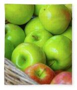 Green Apples Fleece Blanket