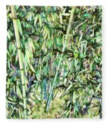 Green Bamboo Tree Fleece Blanket