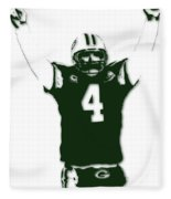 Green Bay Packers Bret Favre 3 Fleece Blanket