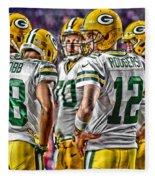 Green Bay Packers Team Art 2 Fleece Blanket