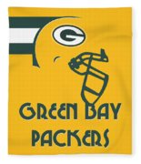 Green Bay Packers Team Vintage Art Fleece Blanket