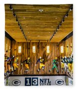 Green Bay Packers Uniforms Then And Now Fleece Blanket