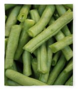 Green Beans Close-up Fleece Blanket