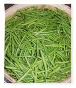 Green Beans  Fleece Blanket