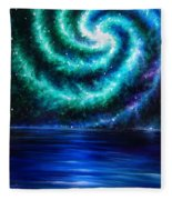 Green-blue Galaxy And Ocean. Planet Dzekhtsaghee Fleece Blanket