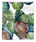 Green Cactus  Fleece Blanket