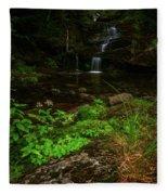 Green Cascade Fleece Blanket