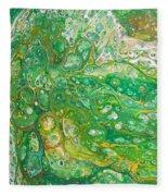 Green Cells Fleece Blanket