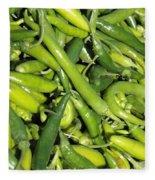 Green Chilis Fleece Blanket