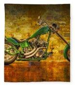 Green Chopper Fleece Blanket