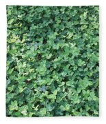 Green Clovers Fleece Blanket