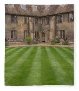 Green College Yard Fleece Blanket