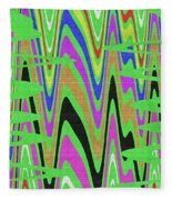 Green Color Abstract #140 Fleece Blanket