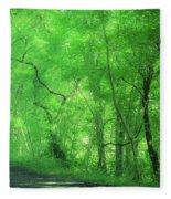 Green Creeper Fleece Blanket
