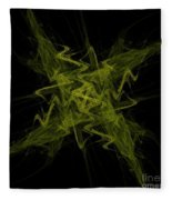 Green Crosshatch Scribble  Fleece Blanket