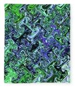 Green Crystal Digital Abstract Fleece Blanket