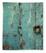 Green Door. Essaouira. Morocco Fleece Blanket