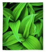 Green False Hellebore Fleece Blanket