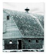 Green Field Barn Fleece Blanket