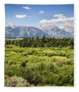 Green Field Fleece Blanket