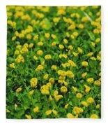 Green Field Of Yellow Flowers 1 Fleece Blanket