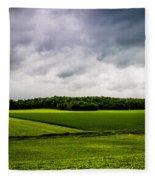 Green Fields Fleece Blanket