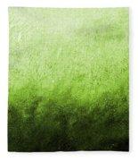 Green Fire Fleece Blanket