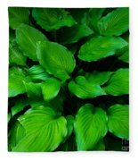 Green Foliage Fleece Blanket