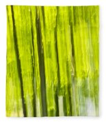 Green Forest Abstract Fleece Blanket
