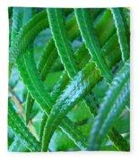 Green Forest Fern Fronds Art Prints Baslee Troutman Fleece Blanket