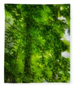 Green Forest Trees 1 Fleece Blanket