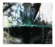 Green Fountain Fleece Blanket