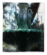 Green Fountain Fleece Blanket