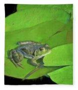 Green Frog Fleece Blanket