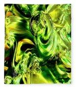 Green Glass Fleece Blanket