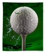 Green Golf Ball Splash Fleece Blanket